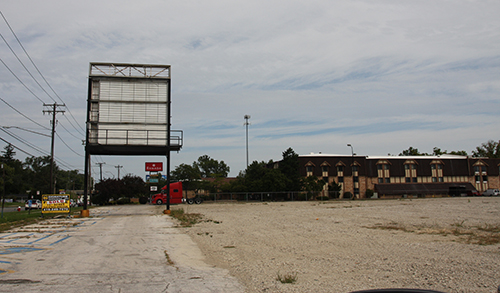 This is what was left of Showcase Cinemas in 2012 - the sign. Photo by the author.