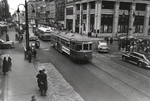Toledo's last streetcar on its final run on Dec. 31, 1949, courtesy of the Toledo-Lucas County Public Library, obtained from http:///images2.toledolibrary.org/.