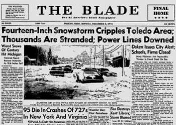 Snowstorm buries Toledo, December 1, 1974