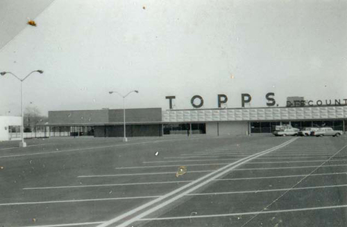 Topps, on the east side of Secor north of Central.
