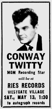 Ries Records attracts the stars (from 1961).
