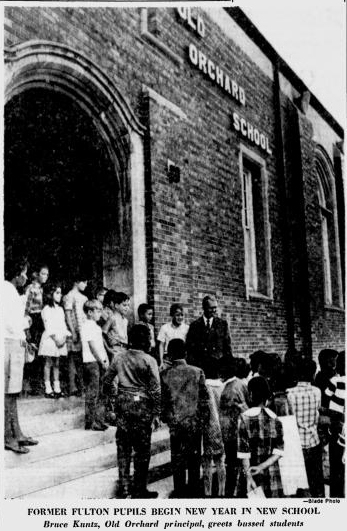 Principal Bruce Kuntz greets students from this picture on the front page of The Blade, Sept. 4, 1968, my first day of formal education.