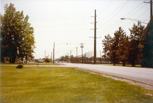 Looking south at the former Par 3 Golf Course along Talmadge Road. Photo by the author, 1983. Click for a larger version.